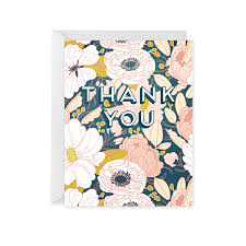 evening floral thank you card paper co