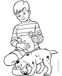 pets coloring page animal coloring sheets pet puppy to color