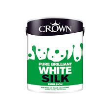 crown silk emulsion paint pure brilliant white 5l at wilko com