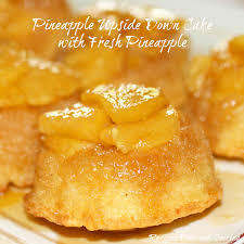 upside down cake with fresh pineapple