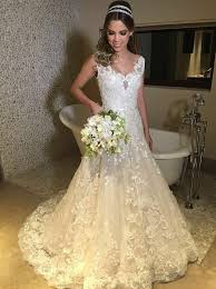 ivory lace wedding dress buy a line scoop sweep ivory lace wedding dress with