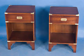 Pair Of Caign Style Mahogany Bedside Tables For Sale Antiques