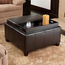 Faux Leather Ottoman Shop Best Selling Home Decor Mansfield Espresso Faux Leather