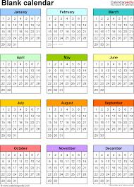 calendar four month calendar template