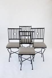 Iron Patio Dining Set Set Of Four Swivel Wrought Iron Patio Dining Chairs U2013 Den Møbler