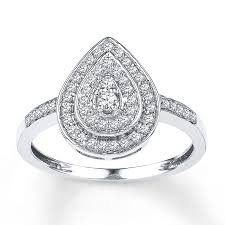 teardrop engagement rings diamond teardrop ring 1 4 ct tw cut sterling silver