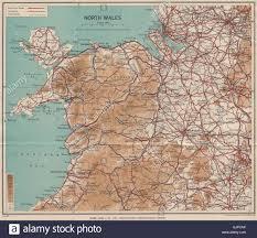 Vintage Map North Wales Rhyl Flint Ward Lock 1937 Vintage Map Stock Photo