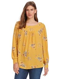 floral blouse loft shoulder button blouse in marigold floral gwynnie bee