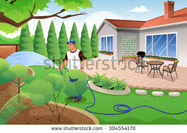 Backyard Cartoon Grass Clipart Backyard Pencil And In Color Grass Clipart Backyard