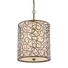 home decorators collection 6 light burnished gold pendant with