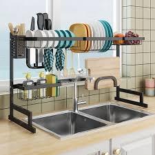 kitchen sink cabinet sponge holder 2019 new kitchen organizer dishes dryer storage rack holder kitchen sink sponge holder tableware dinnerware organizer dryer rack