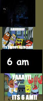 Add Meme Text - fnaf memes spongebob 6 am fnaf another text meme loading view all
