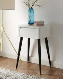 great deals on black and white mid century modern tall side table