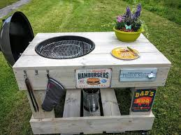 how to build a weber grill table steigerhouten tafel voor master touch 57 outdoor kitchen