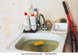 Clogged Stock Images RoyaltyFree Images  Vectors Shutterstock - Kitchen sink is clogged
