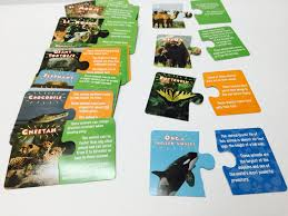 animal facts puzzle matching card from national geographic
