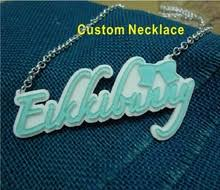 acrylic name necklace buy acrylic name necklace and get free shipping on aliexpress