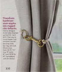 Diy Curtain Tiebacks Diy Curtain Tie Back Hooks Gopelling Net