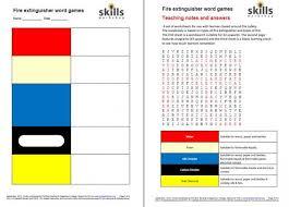 types of fire extinguisher wordgames skills workshop