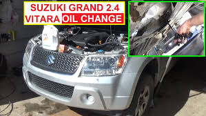 suzuki grand vitara oil change 2 4 engine how to change engine