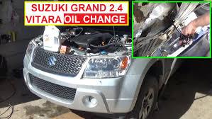 suzuki grand vitara oil change 2 4 engine how to change engine