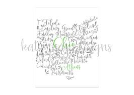 Athens Ohio Map by Athens Ohio Print 8x10 Print Ohio Cities Ohio Map