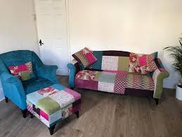 sofa patchwork dfs shout patchwork 3 seat sofa armchair and storage footstool