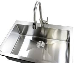 Single Basin Kitchen Sinks by 36 Inch Top Mount Drop In Stainless Steel Single Bowl Kitchen Sink