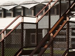 expanded metal stair railing stair railing by metal deploye
