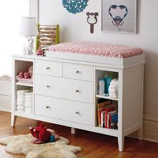 White Changing Tables For Nursery Dressers Modern White Poplar Dresser With Shelves In