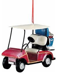 golf cart ornament with cooler ornaments by