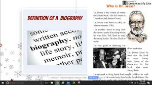 biography definition and characteristics biography definition youtube