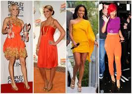 what colour shoe with and orange dress i talk fashion