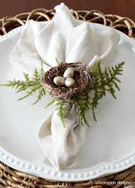 napkin ring ideas how to make bird s nest napkin rings uncommon designs