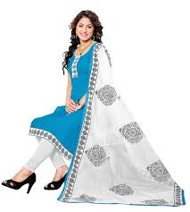 khushali fashion women u0027s cotton dress material sglakr713014 blue