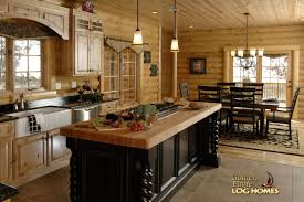 golden eagle log and timber homes log home cabin pictures kitchen island