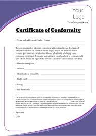 conformity certificate template certificate of analysis fda