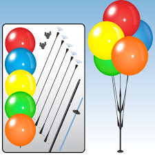 plastic balloons dura reusable plastic balloons pole kit balloons on a stick