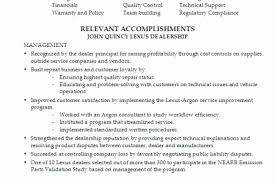 Customer Service Manager Resume Template Automotive Customer Service Manager Resume
