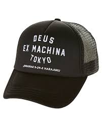 new machina new deus ex machina men s tokyo address trucker cap mesh black ebay