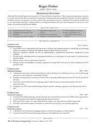 100 sample of mechanical engineer resume resume sample