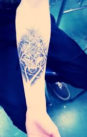 beautiful small tribal wolf design idea for and