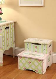 wooden step stool kids traditional with 2 step stools bed