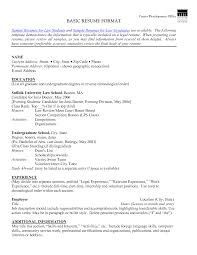 example simple resume best photos of basic resume format simple basic resume format sample basic resume format