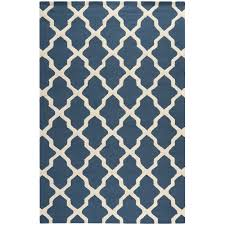 Bright Blue Rug This Patterned Blue Wool Rug Combines Bright Modern Colors With A