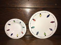 string of lights glass tumbler fiestaware