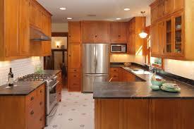 kitchen mission style drawer pulls mosiac tile backsplash self