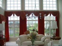 living room elegant white fabric modern window treartments decor