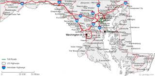 map of maryland with cities map of maryland cities maryland road map