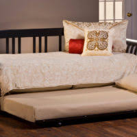 bedroom full size dark brown painted mahogany wood daybed in
